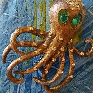 Vintage Octopus Brooch